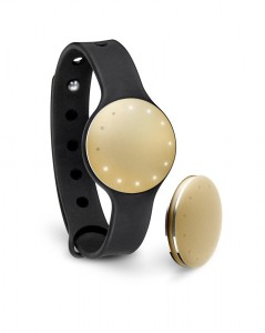 The Shine device in its sportband. Photo courtesy of Misfit.
