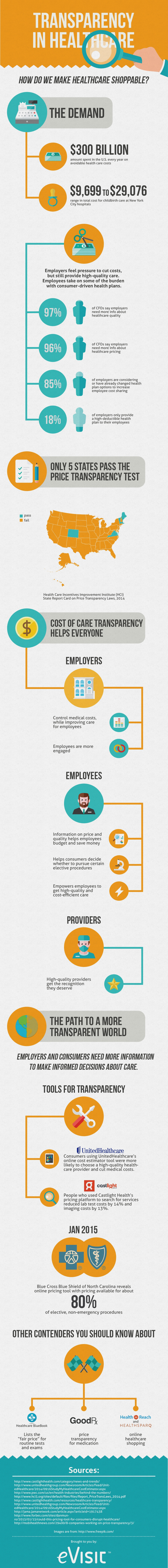 Healthcare Transparency Infographic