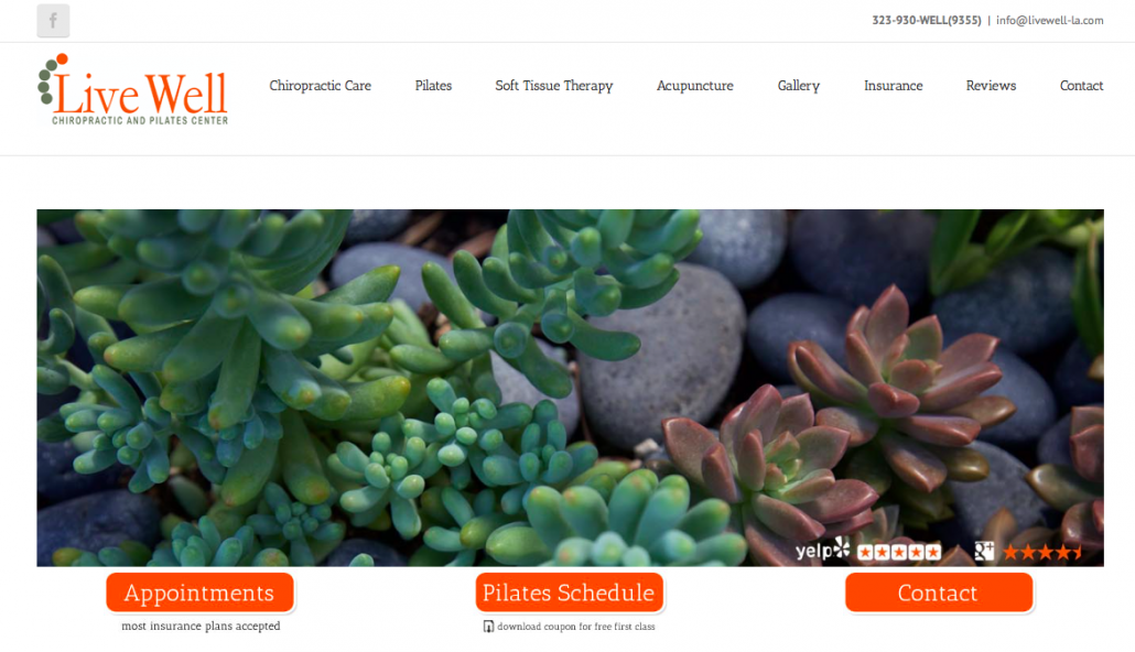 Live Well - Distraction Free Site Example