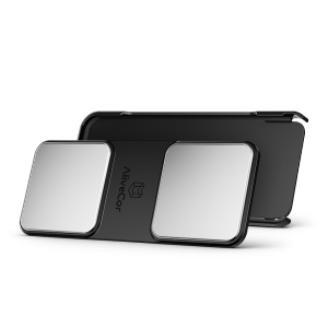 The AliveCor ECG is available as a phone case or an adhesive attachment (pictured here) which fits most mobile devices. Photo courtesy of AliveCor.