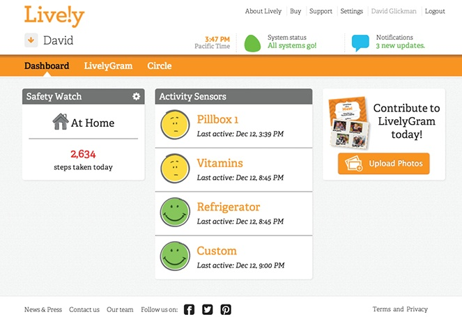 The online monitoring dashboard. Image via MyLively.com